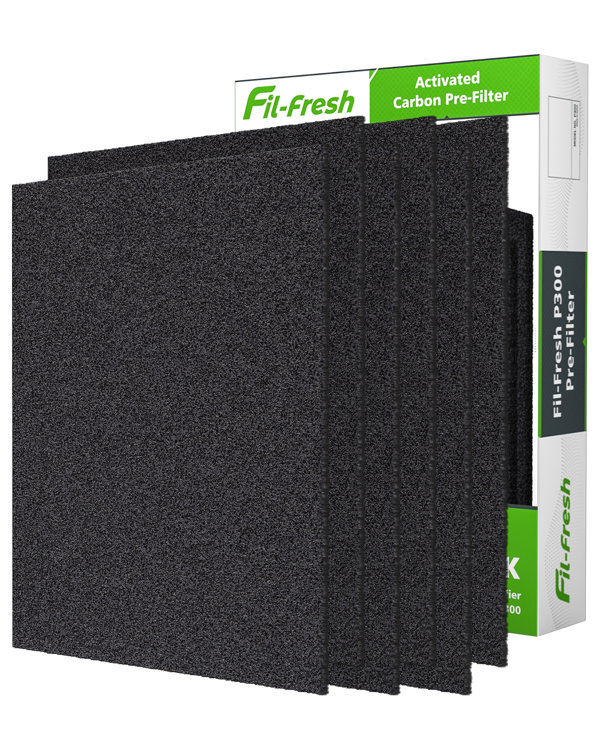 Fil-fresh HPA300 Carbon Pre Filters Replacement for Honeywell HPA300 Air Purifier, Precut Activated Carbon Pre-Filters, 6 Pack Odor-Reducing Pre Filters for 1-Year Use